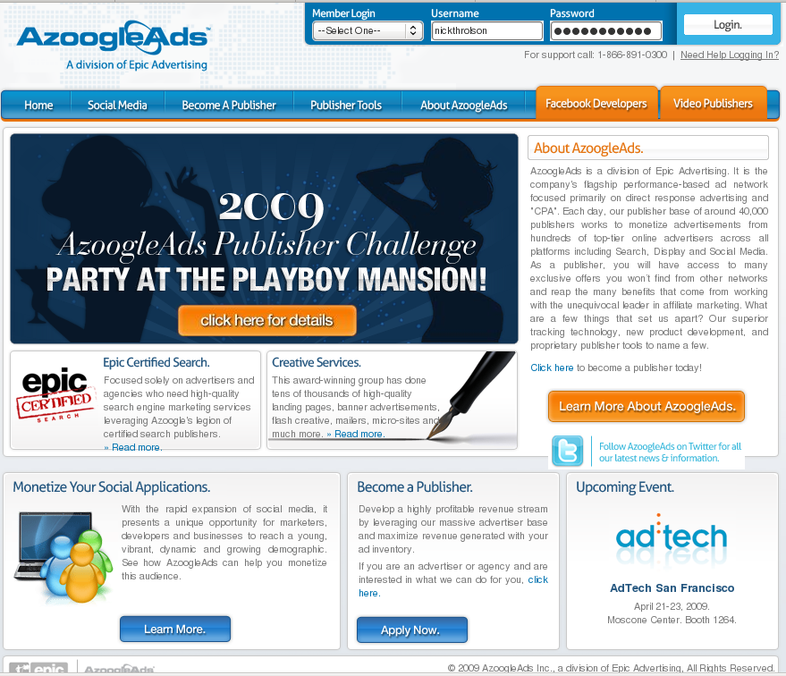 Signup with Azoogle Ads Today!