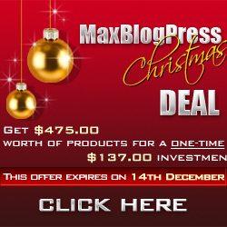 70% OFF MaxBlogPress X-mas Event