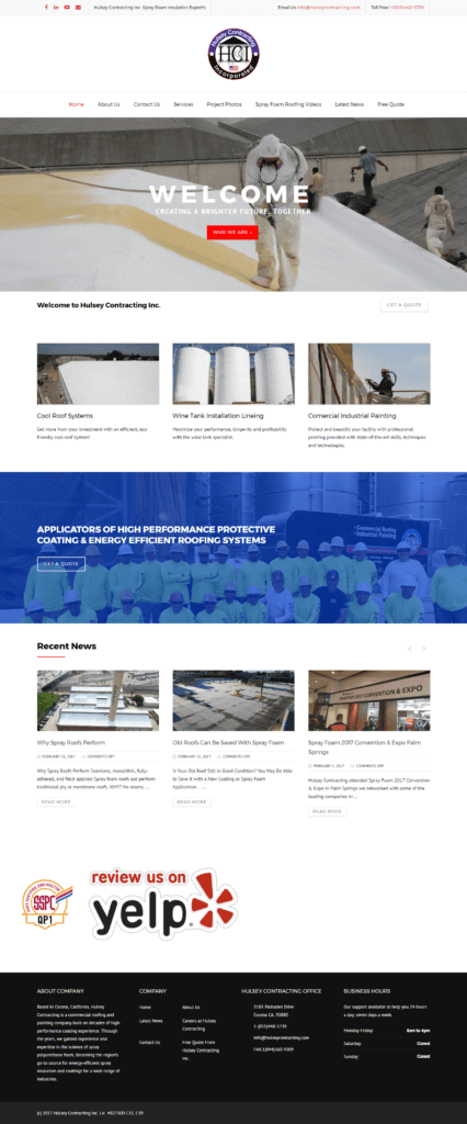 Hulsey-Contracting-Inc-Commercial-Roofing-Website-Design-By-Throlson-Web-Design