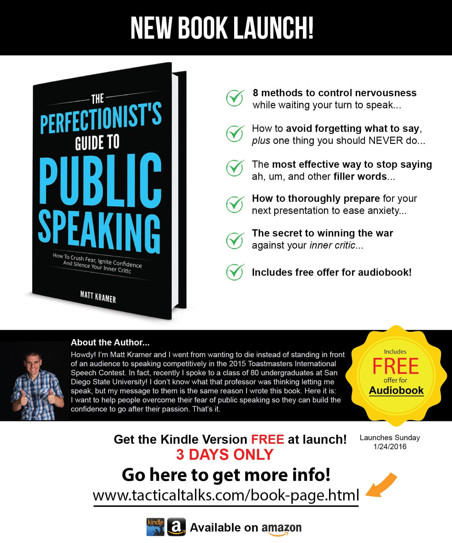 The Perfectionist's Guide To Public Speaking by: Matt Kramer