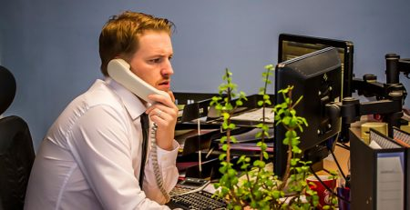 Office Worker On Phone