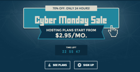 Site Ground Web Hosting Cyber Monday Deal