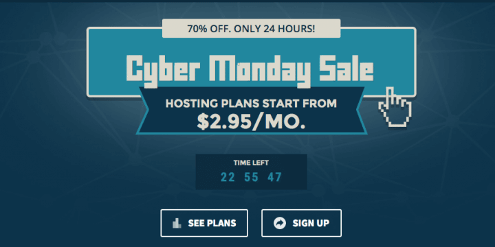 Cyber Monday Deals Web Hosting Edition