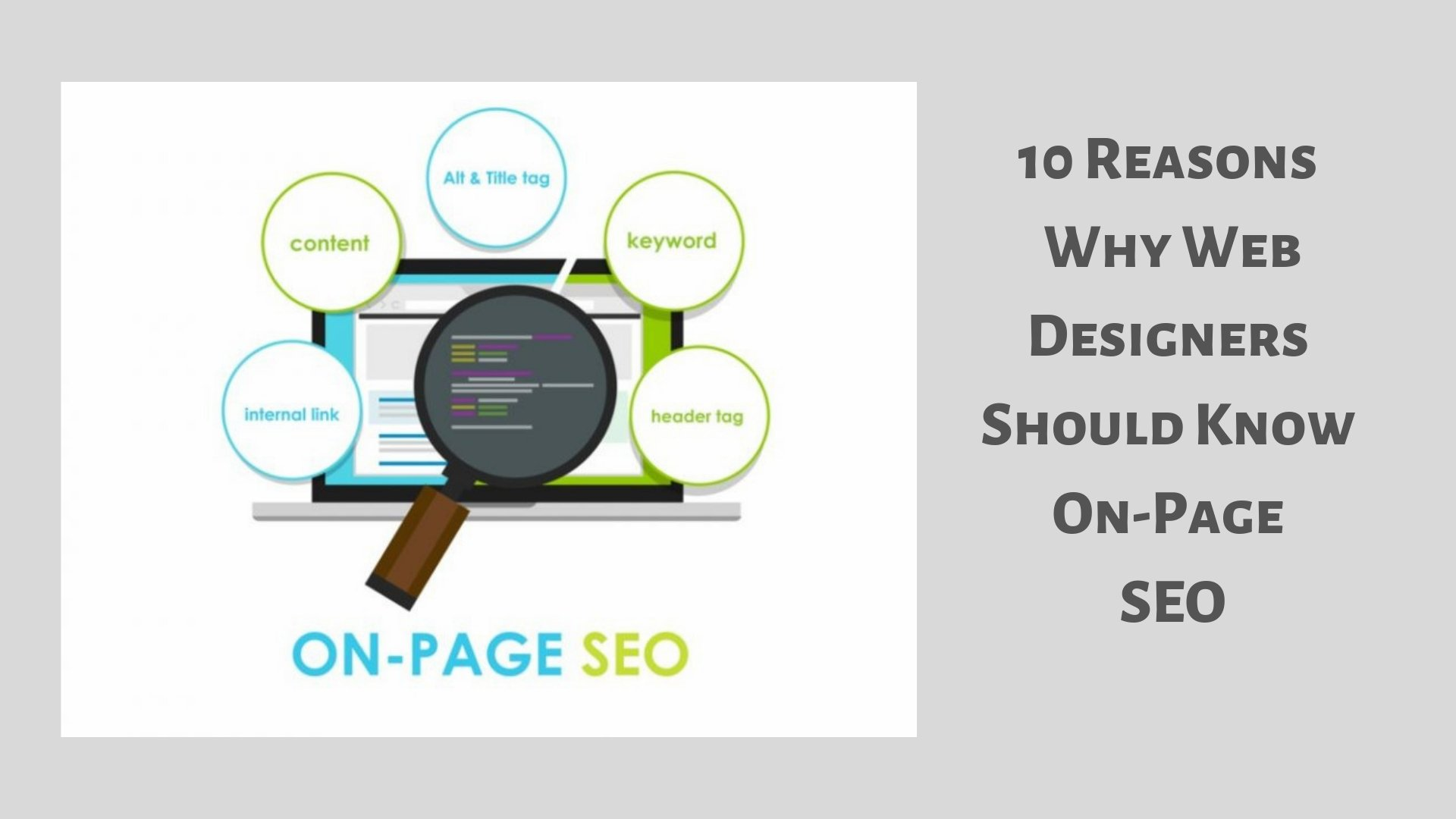 Web Designers Should Know On-Page SEO