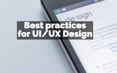 Best practices for UI/UX Design