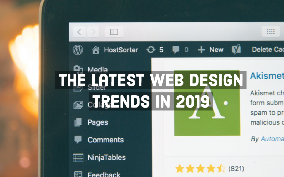The latest web design trends in 2019